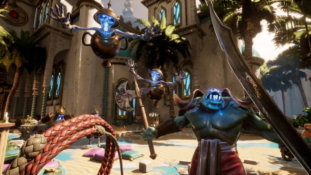 City of Brass screenshot of various enemies attacking the player