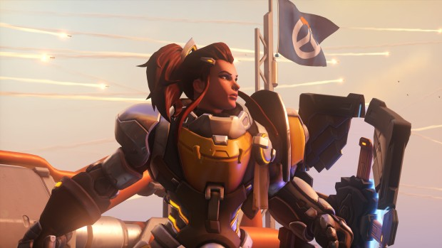 Overwatch screenshot of Brigitte on Watchpoint Gibraltar