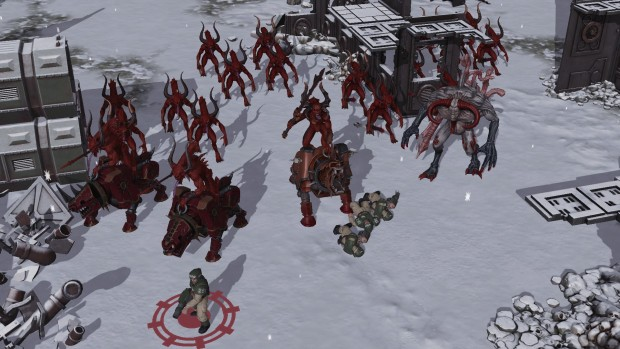 Sanctus Reach: Horrors of the Warp screenshot of some Khorne themed Daemons