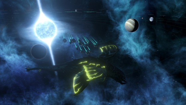 Stellaris screenshot of a Leviathan from Distant Stars