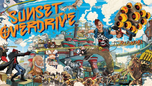 Sunset Overdrive official artwork and logo