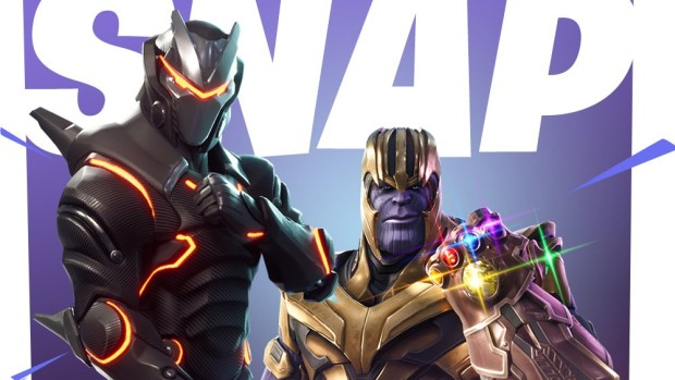 Official artwork for the Fortnite and Thanos crossover