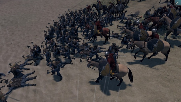 Total War: Thrones of Britannia screenshot of a cavalry charge