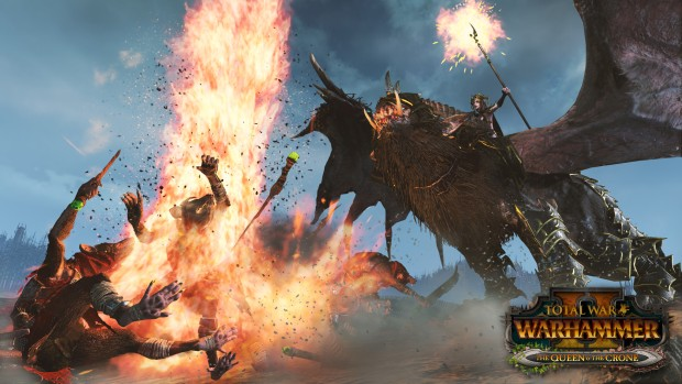 Total War: Warhammer 2 screenshot of combat from the upcoming Queen and the Crone DLC
