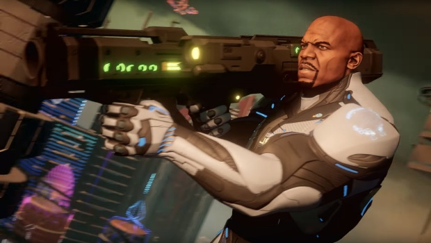 Screenshot of Terry Crews from the upcoming Crackdown 3