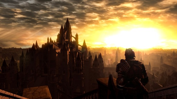 Dark Souls Remastered screenshot of Anor Londo from afar