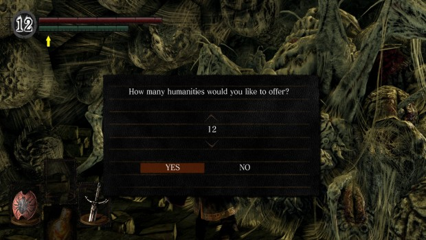 Dark Souls Remastered screenshot of the new and improved UI
