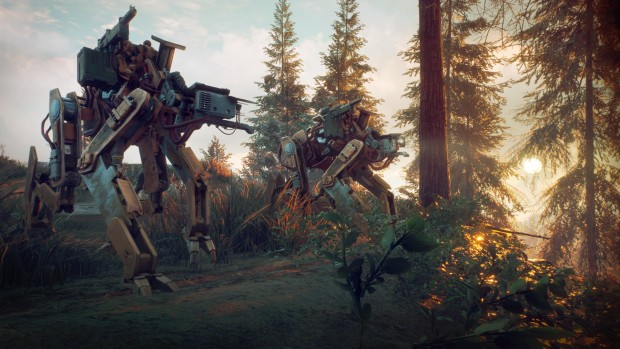 Generation Zero killer robots roaming the forest