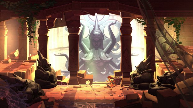 Indivisible screenshot of a rather nicely drawn temple