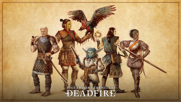Pillars of Eternity 2: Deadfire artwork showing the main companion characters