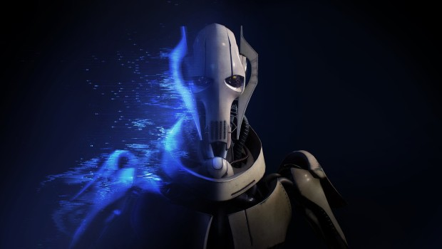 Star Wars Battlefront 2 official artwork for General Grevious on a black background