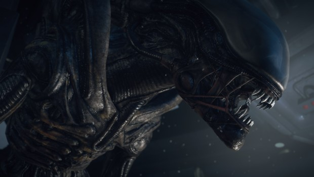 Screenshot of the alien from Creative Assembly's Alien: Isolation