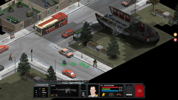 Xenonauts screenshot of XCOM-inspired action