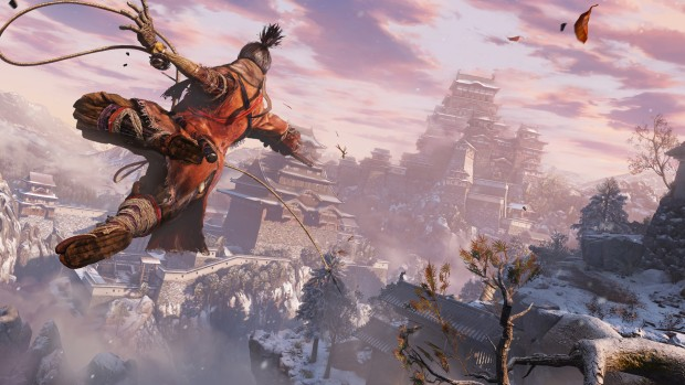 Sekiro: Shadows Die Twice main character using his hook