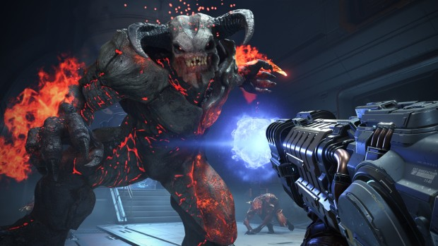 Doom Eternal screenshot of a demon attacking the player