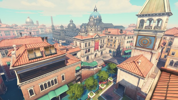 Screenshot of the Rialto map from Overwatch