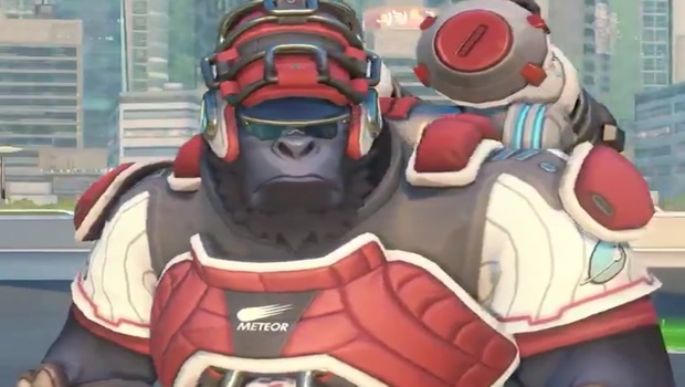 Overwatch screenshot of Catcher Winston from the Summer Games 2018 event