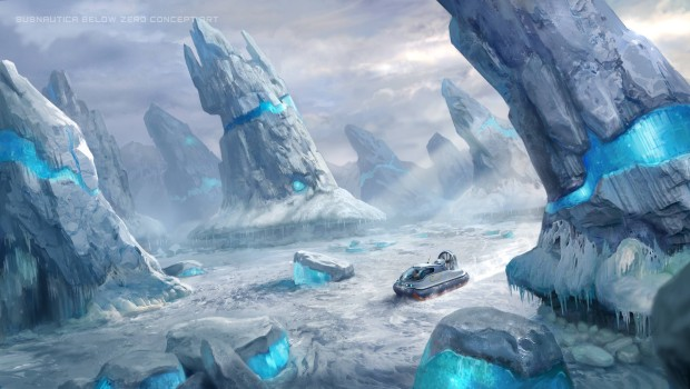 Subnautica: Below Zero concept artwork for the Arctic Spires zone