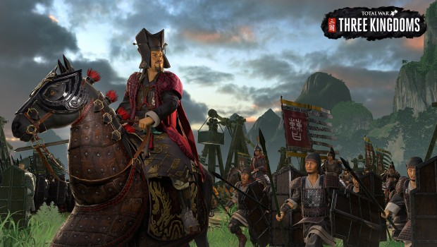 Total War: Three Kingdoms screenshot of a marching army