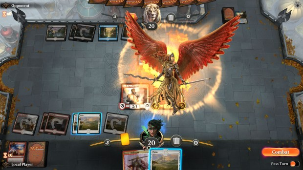 MTG Arena screenshot of an angel being played