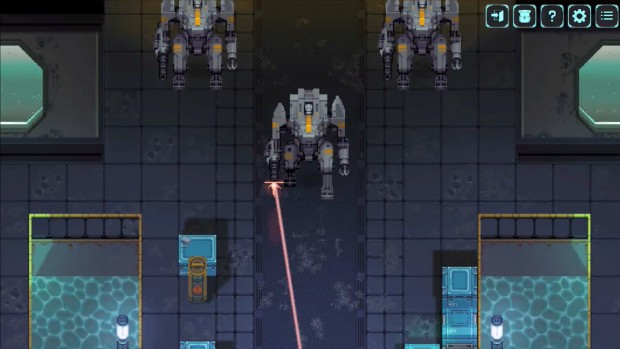Depth of Extinction screenshot of giant robots firing lasers