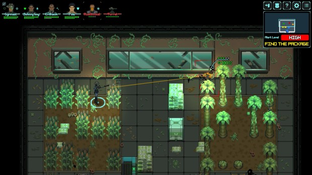 Depth of Extinction screenshot showing a battle in a greenhouse