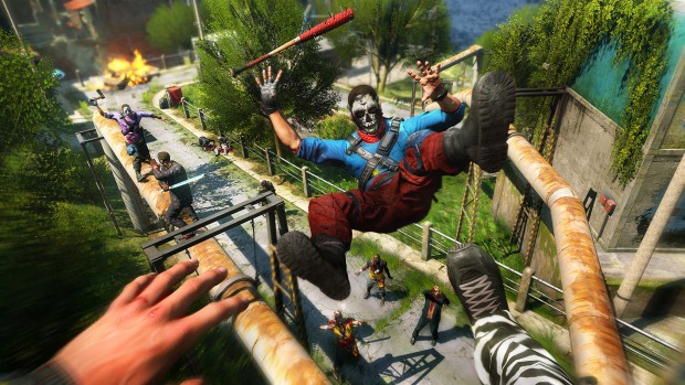 Dying Light Bad Blood Screenshot Of Our Character Kicking An Enemy Away