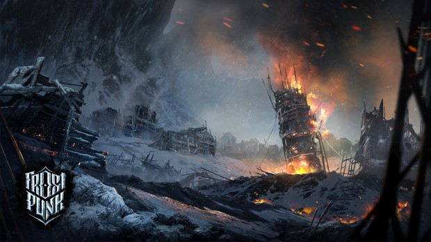 Frostpunk artwork for The Fall of Winterhome expansion