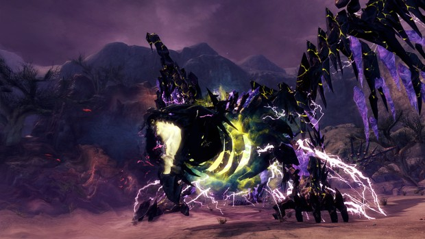Guild Wars 2: Path of Fire - A Star To Guide Us screenshot of a branded Dragon