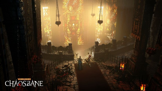 Warhammer: Chaosbane screenshot of a glimmering temple