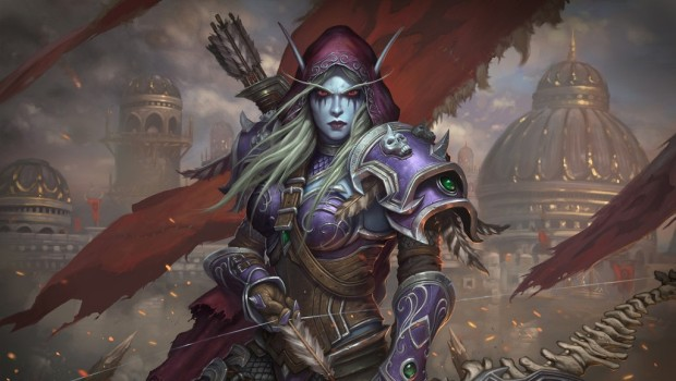 World of Warcraft: Battle for Azeroth official artwork showing Sylvanas