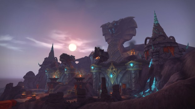 World of Warcraft screenshot of Vol'Duns snake temple