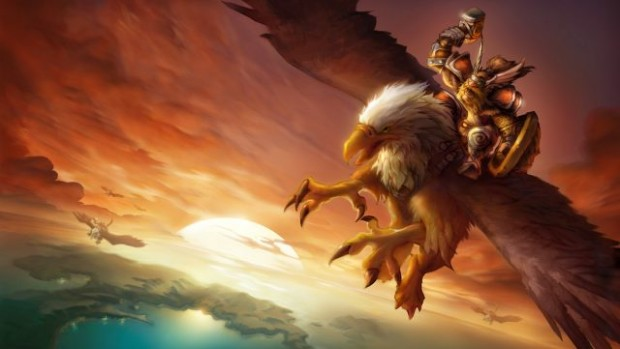 World of Warcraft: Classic artwork of a gryphon rider