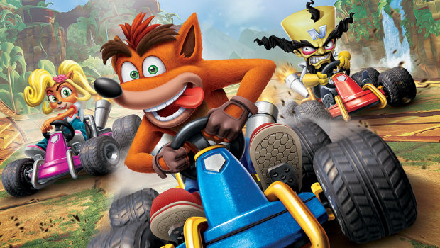 Crash Team Racing Nitro-Fueled official artwork showing the characters