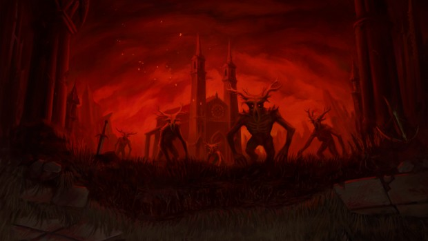 DUSK artwork of the demonic enemies