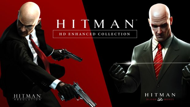 Hitman HD Enhanced Collection official artwork showing the two remastered games