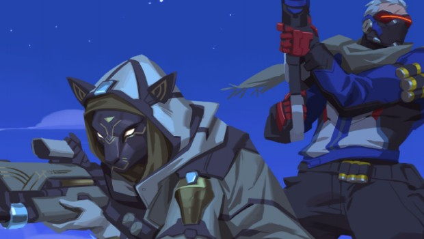 Overwatch artwork showing Ana's Bastet skin from the short story