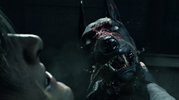 Resident Evil 2 screenshot of the zombie dog