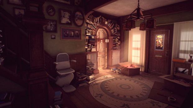 What Remains of Edith Finch screenshot of a brightly lit and very cozy-looking room