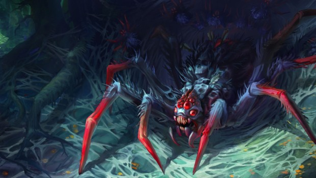 Dota 2 artwork for Broodmother's cosmetic set