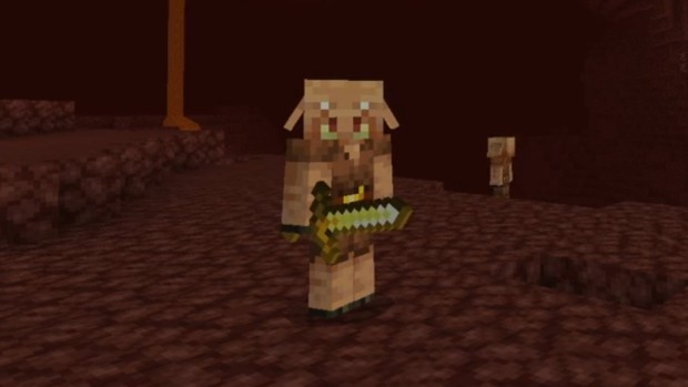 Minecraft Nether update screenshot of the hostile Piglin mob