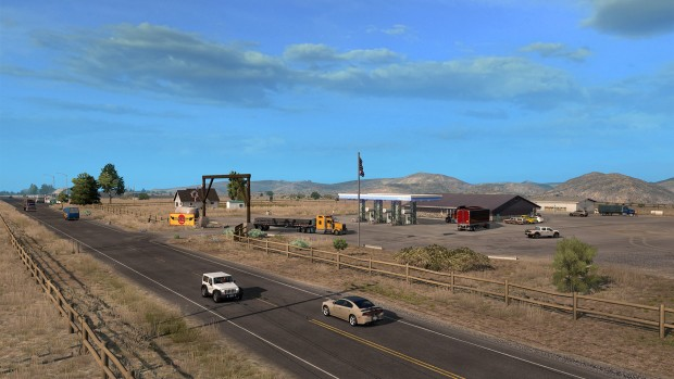 American Truck Simulator screenshot of rural Idaho