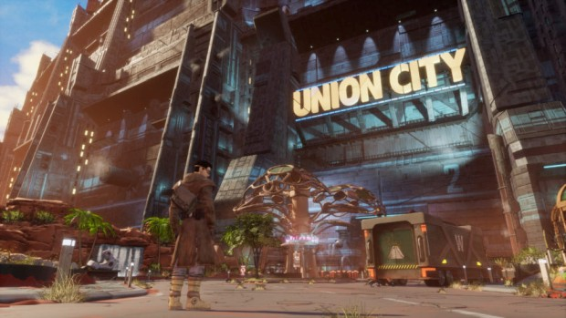 Beyond a Steel Sky in-game screenshot of Union City