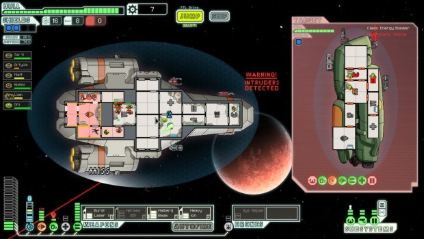 FTL: Faster Than Light screenshot of the combat