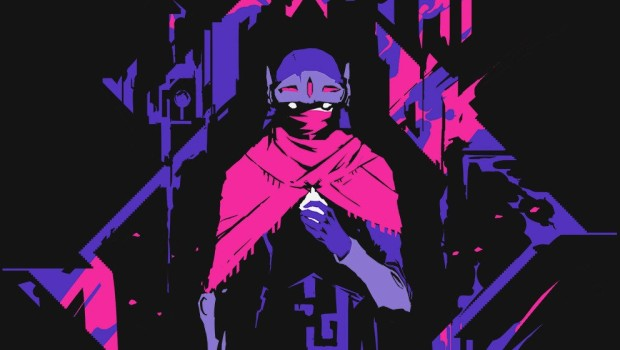 Hyper Light Drifter official artwork but without the logo