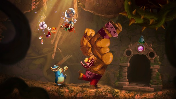 Rayman Legends screenshot of characters fighting an enemy in melee