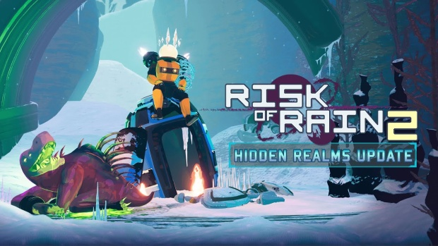 Risk of Rain 2 official artwork and logo for the Hidden Realms update