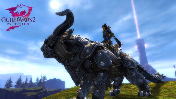 Guild Wars 2 screenshot of the new Warclaw mount
