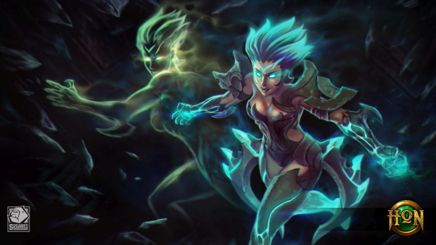 Heroes of Newerth official artwork for the hero Moira