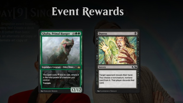 MTG Arena's free Singleton event is offering fancy alternate
